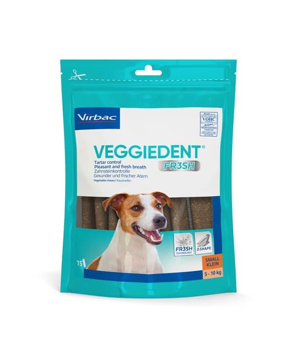Virbac VeggieDent Small hondensnack tot 10 kg/15 kauwstrips
