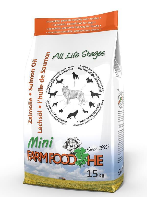 Farm Food HE Mini met Schotse Zalmolie Hondenvoer