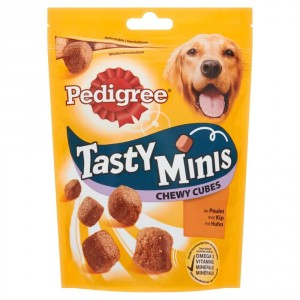 Pedigree Tasty Minis Chewy Cubes Kip hondensnack 130 gram