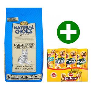 Nutro Choice Large Breed Kip & Rijst hondenvoer