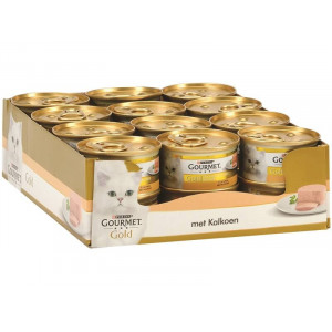Gourmet Gold Mousse Kalkoen kattenvoer