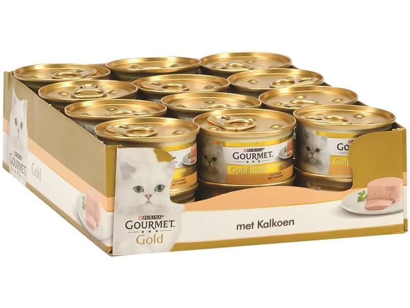 Gourmet Gold mousse met kalkoen kattenvoer (blik 85 g)