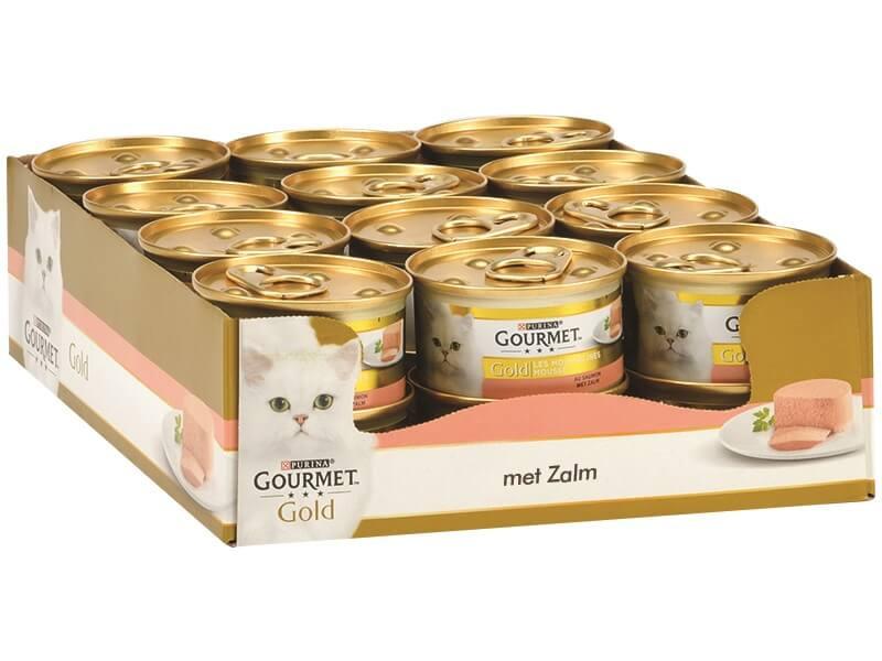 Gourmet Gold Mousse Zalm kattenvoer