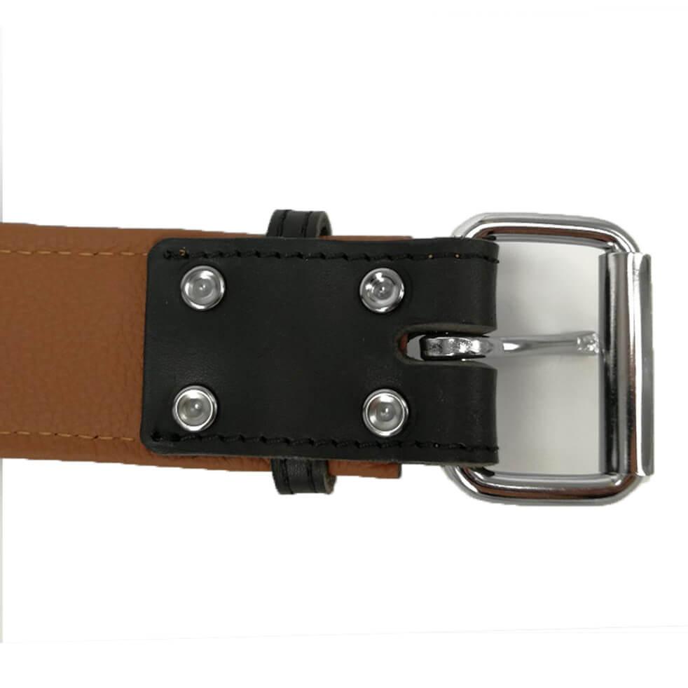 Softleren Halsband Carhu Zwart