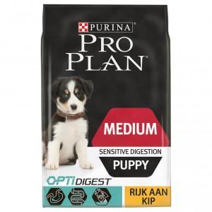 Pro Plan Optidigest Medium Puppy Sensitive Digestion Kip hondenvoer 12 kg