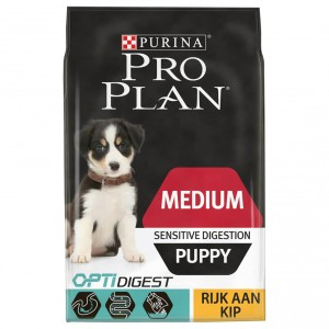Pro Plan Optidigest Medium Puppy Sensitive Digestion Kip hondenvoer 12 kg