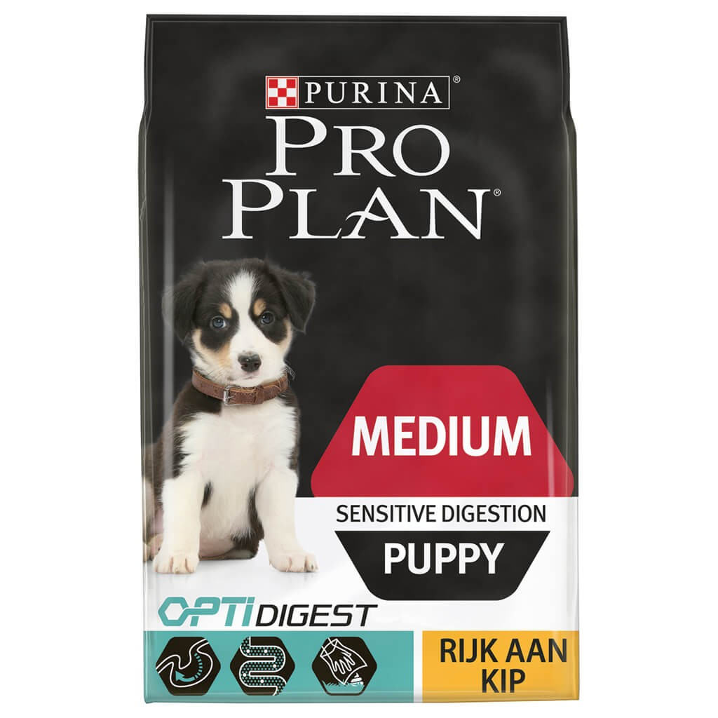 Pro Plan Optidigest Medium Puppy Sensitive Digestion Kip hondenvoer