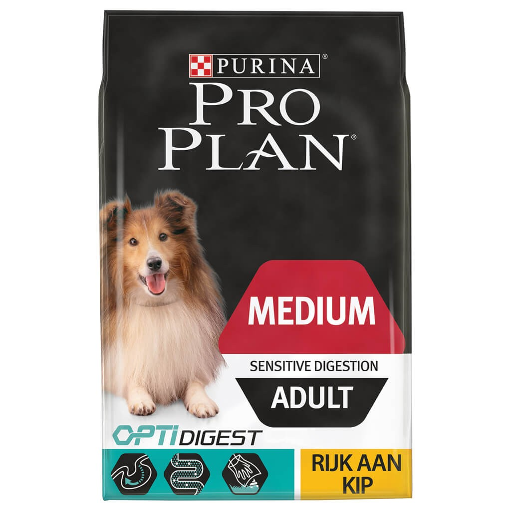 Pro Plan Optidigest Medium Adult Sensitive Digestion Kip hondenvoer