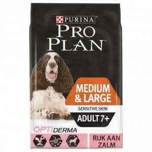 Pro Plan Optiderma Medium & Large Sensitive Skin Adult 7+ hondenvoer