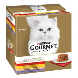 Gourmet Gold 8-Pack Hartig Torentje kattenvoer