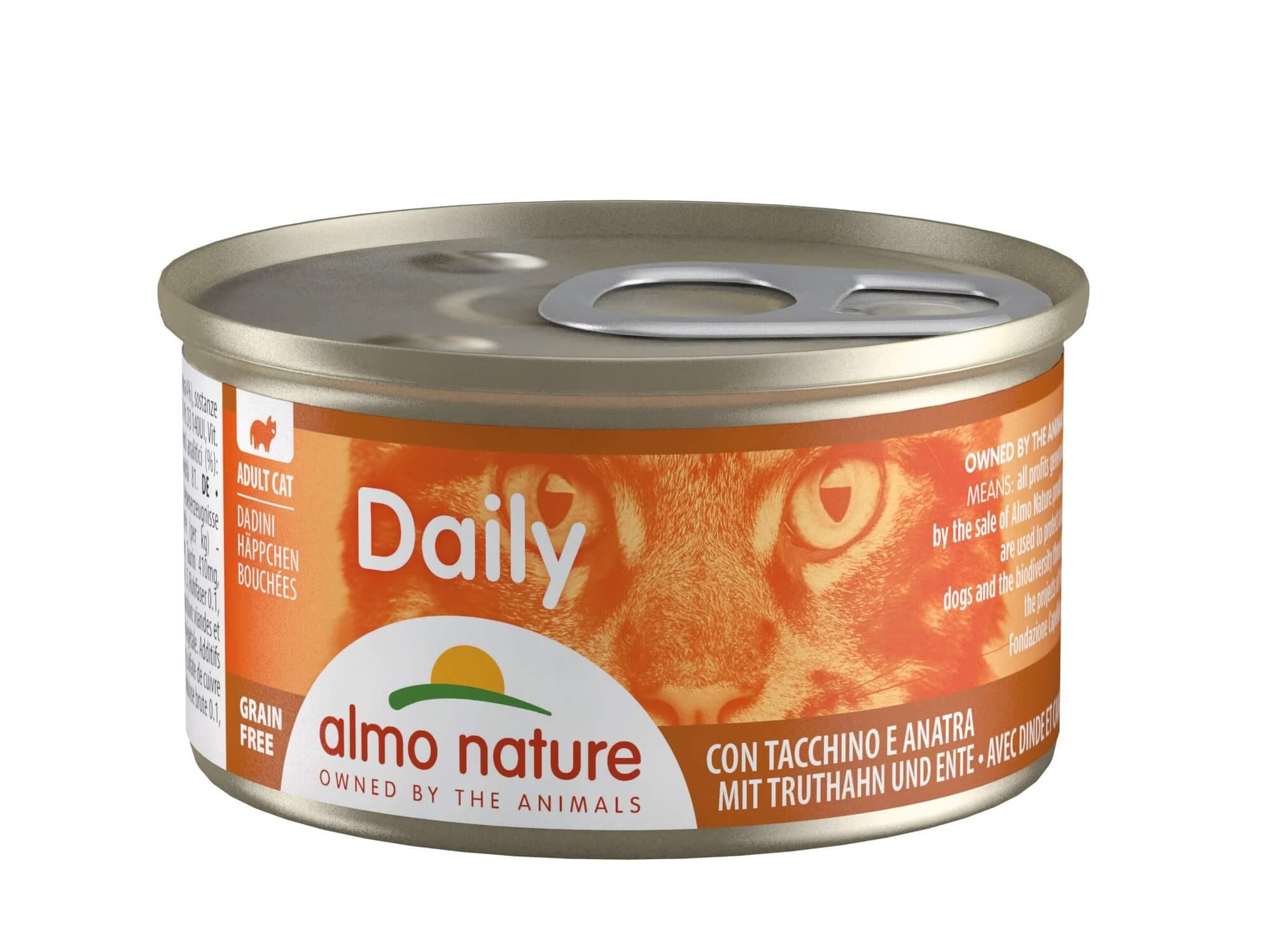 Almo Nature Daily Hapje met Kalkoen & Eend 85 gr