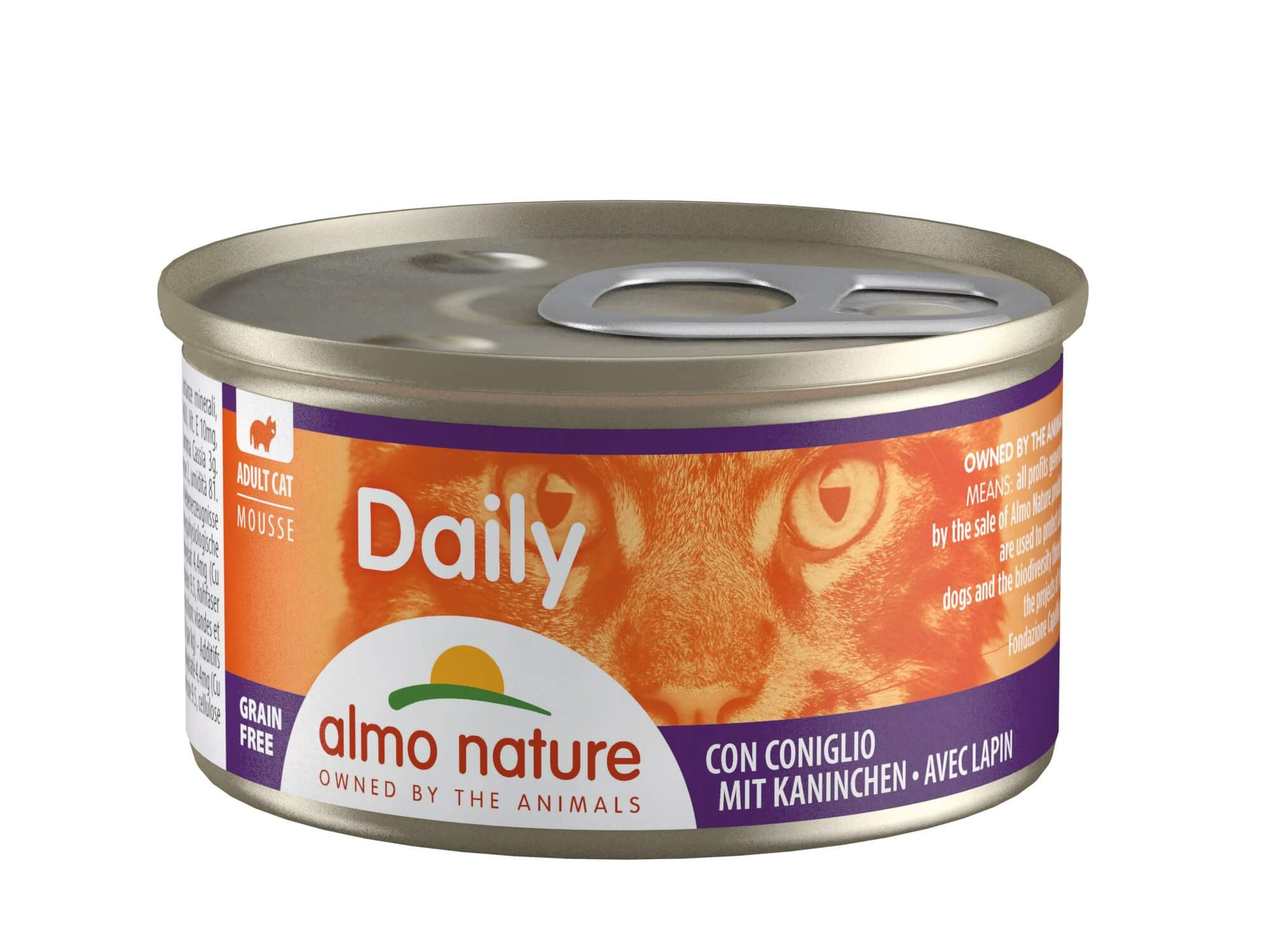 Almo Nature Daily Mousse met Konijn 85 gr
