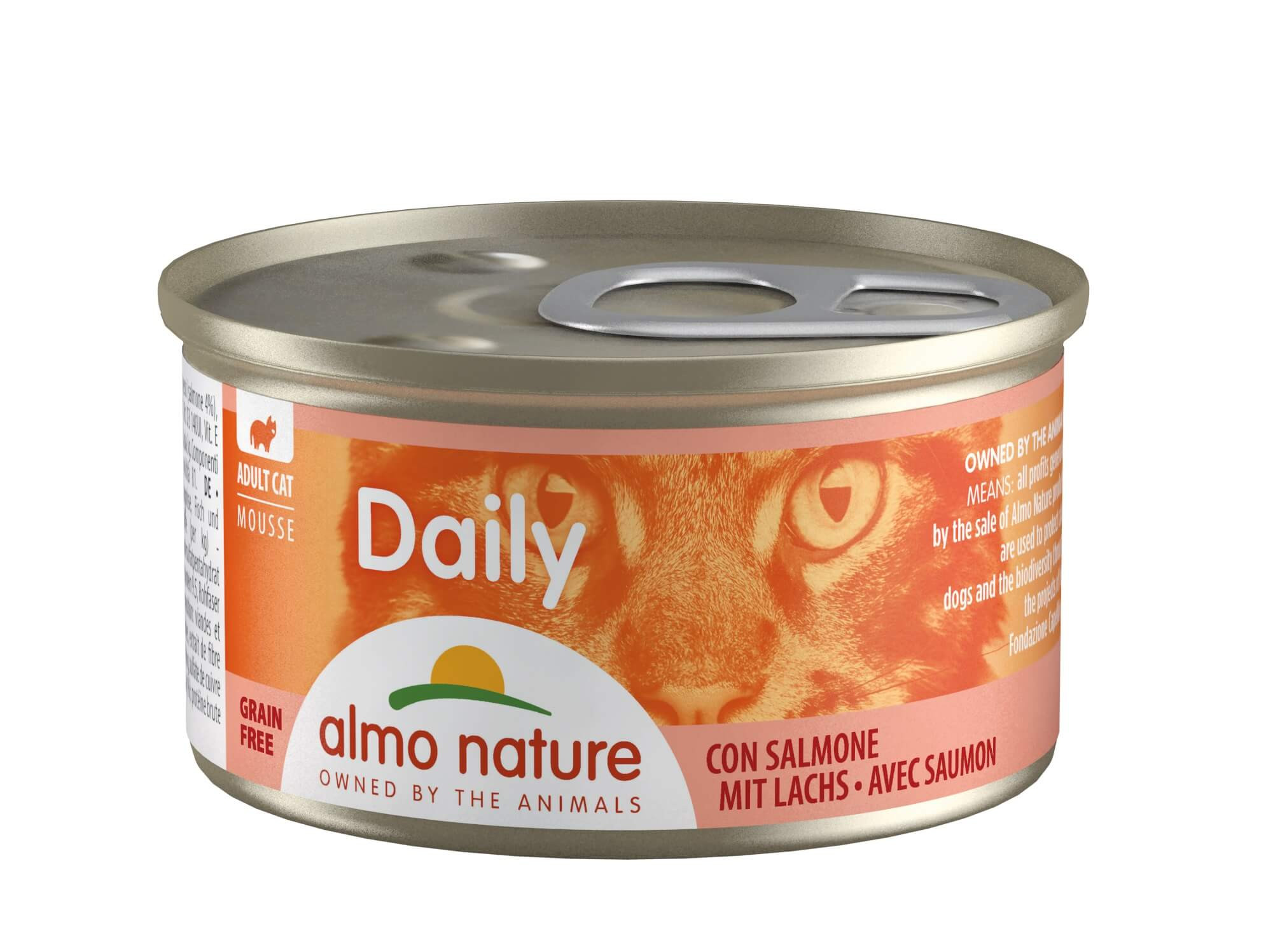 Almo Nature Daily Mousse met Zalm 85 gr