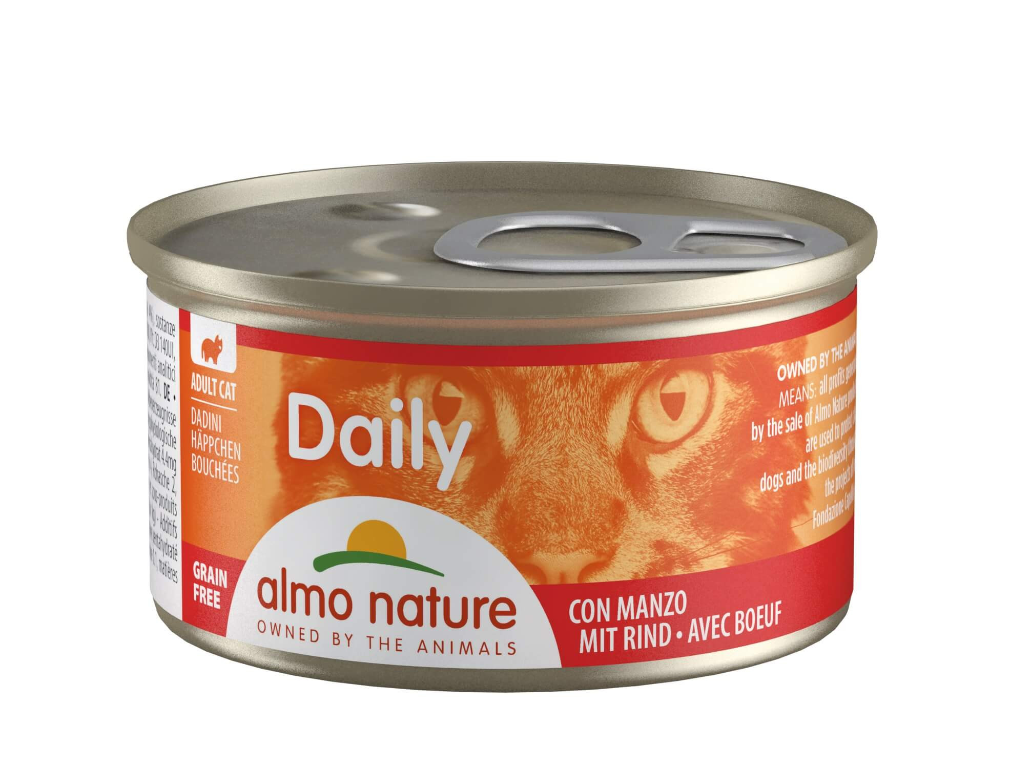 Almo Nature Daily Hapje met Rund 85 gr