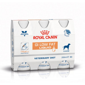 Royal Canin Veterinary Diet GI Low Fat Liquid Hond 3 x 200 ml