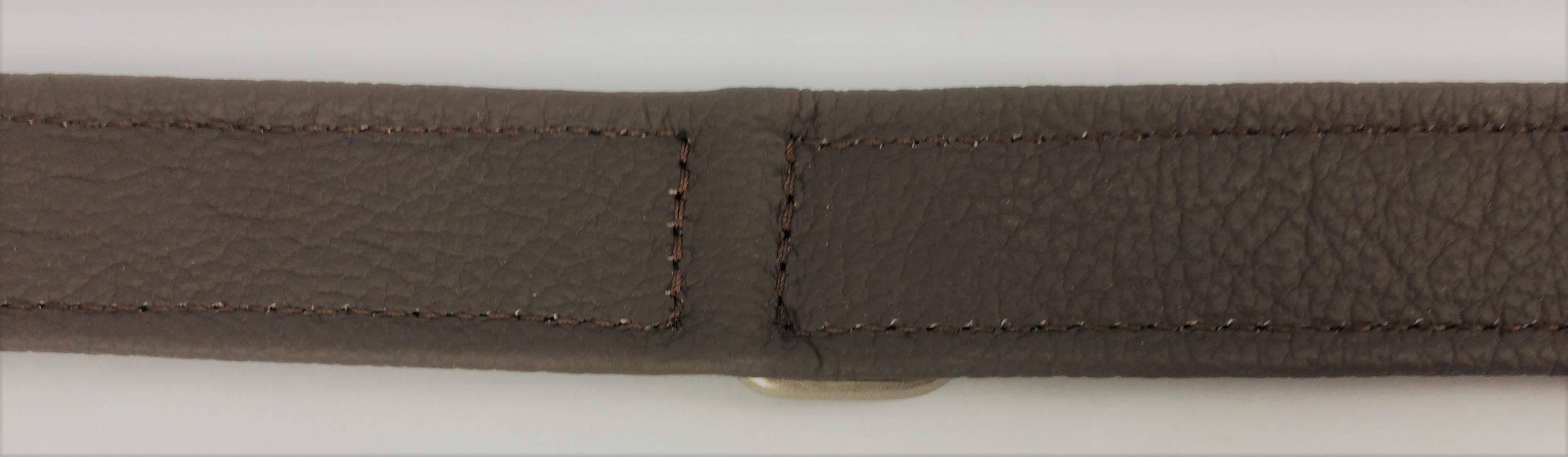 Halsband Montana Rustic donkerbruin voor honden