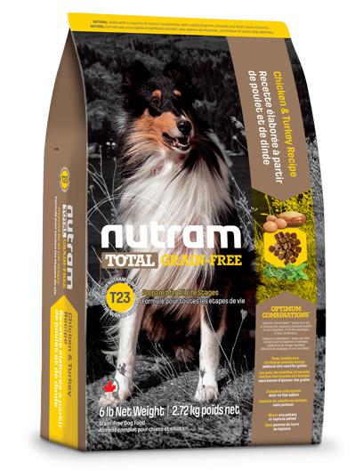 Nutram Graanvrij Kalkoen & Kip T23 hond