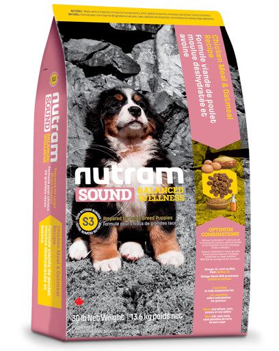 Nutram Sound Balanced Wellness Large Breed Puppy S3 hondenvoer