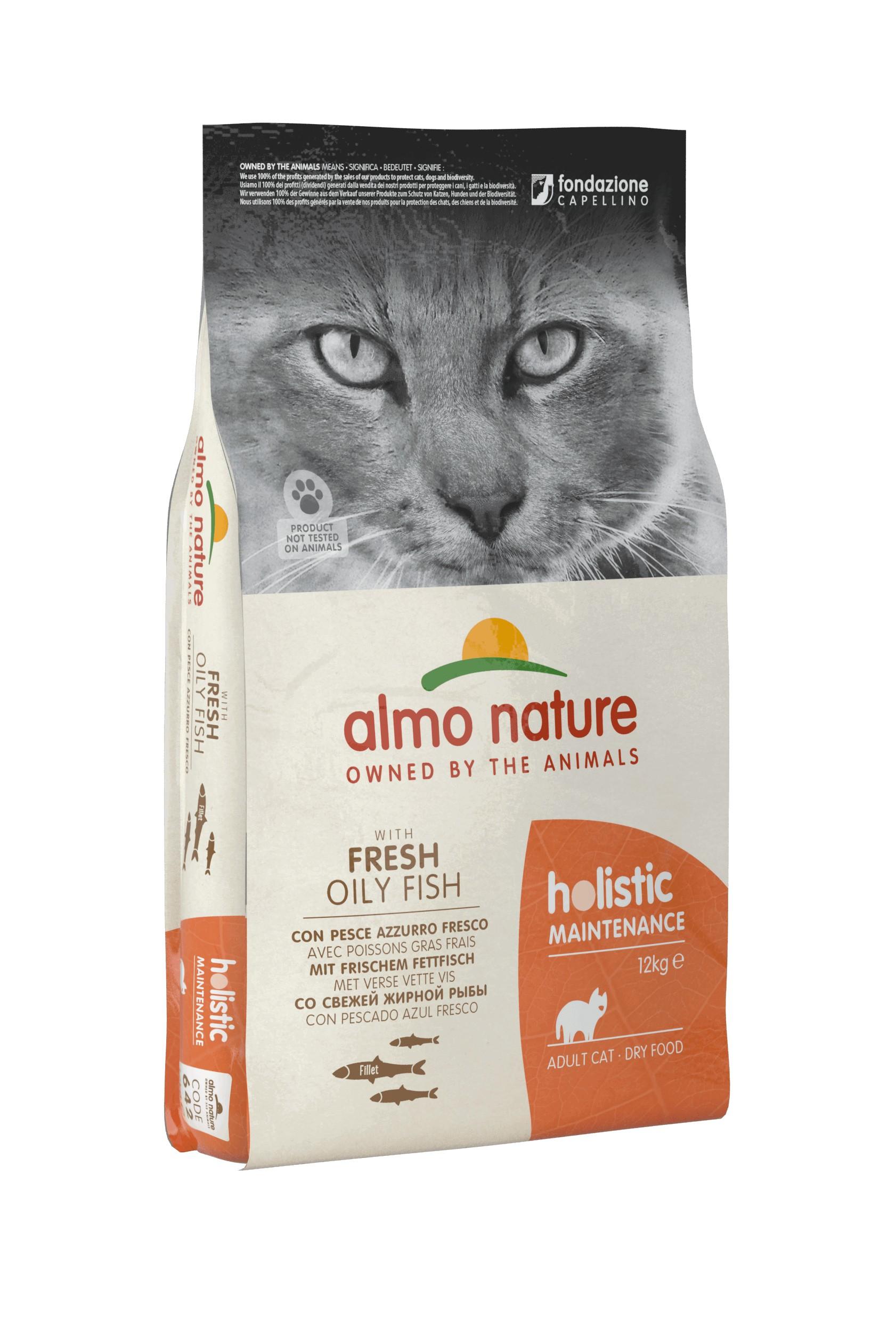 Almo Nature Holistic Adult met vette vis kattenvoer