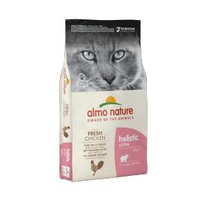 Afbeelding van 12 kg Holistic Kitten Kip & Rijst Almo Nature kattenvoer