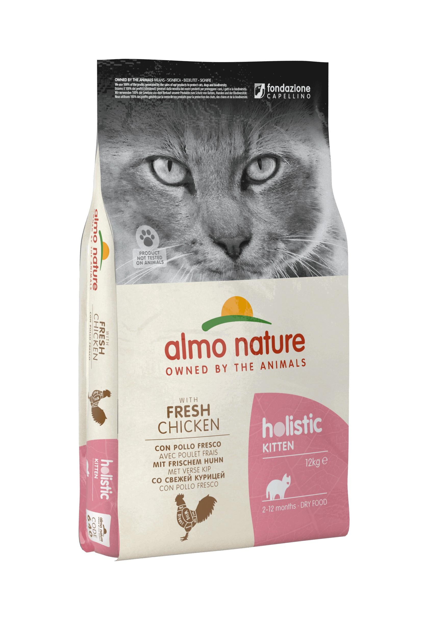 Almo Nature Holistic Kitten Kip & Rijst kattenvoer