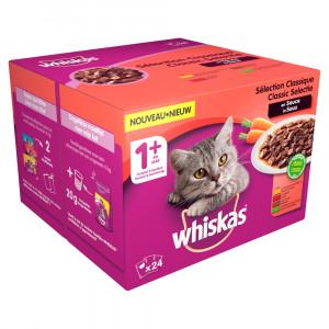 Whiskas 1+ Classic Selectie Groenten pouches multipack 24 x 100g