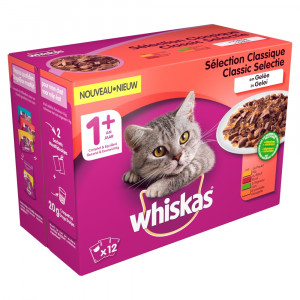 Whiskas 1+ Classic in gelei pouches multipack 12 x 100g