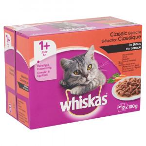 Whiskas 1+ Classic Selectie Groenten pouches multipack 12 x 100g