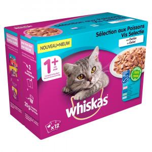 Whiskas 1+ Vis in gelei pouches multipack 12 x 100g