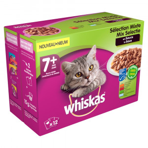 Whiskas 7+ Mix in saus pouches multipack 12 x 100g