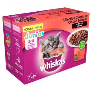 Whiskas Junior Classic in saus pouches multipack 12 x 100g