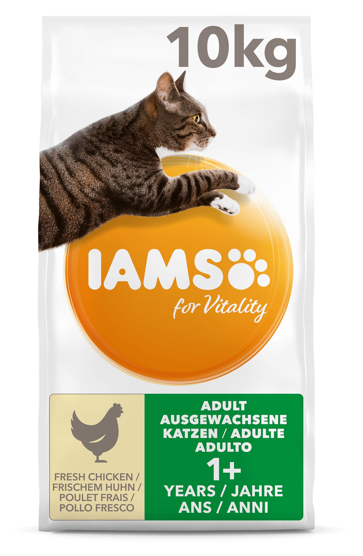 Iams For Vitality Adult met Verse Kip Kattenvoer