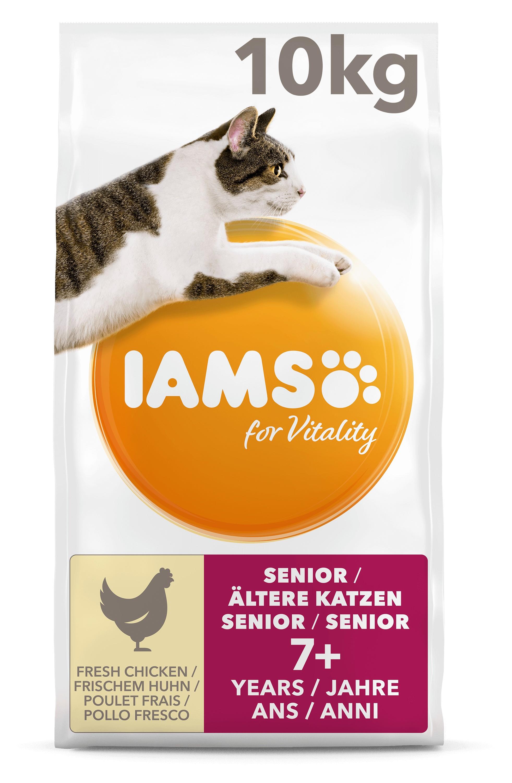 Iams For Vitality Senior met verse Kip kattenvoer