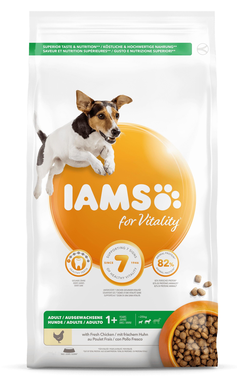 Iams for Vitality Adult Small & Medium Kip hondenvoer