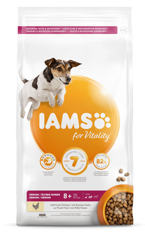 Iams for Vitality Senior Small & Medium Kip hondenvoer