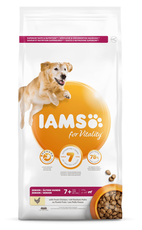 Iams for Vitality Senior Large Kip hondenvoer