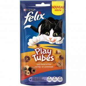 Felix Play Tubes Kip & Lever 50 gr kattensnoep