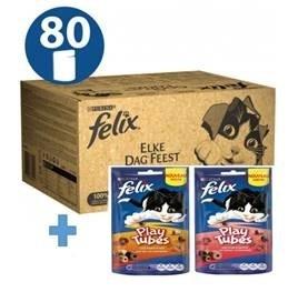 b8781b5ac45 Felix Elke Dag Feest 80-pack - 80x100 gr kattenvoer goedkoop online
