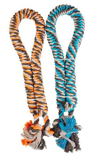 Gedraaid katoenen touw met knopen 90 cm