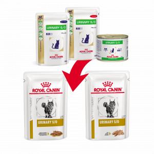 Royal Canin Veterinary Diet Urinary S/O Beef zakjes kattenvoer OP is OP