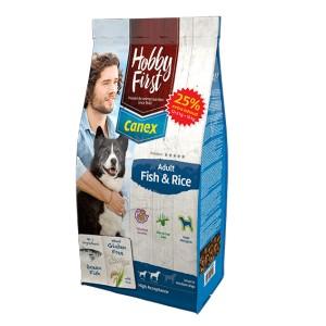 HobbyFirst Canex Adult Vis & Rijst hondenvoer 2 x (12 + 3 kg gratis)