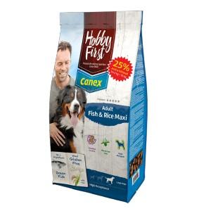 HobbyFirst Canex Adult Vis & Rijst Maxi hondenvoer 12 + 3 kg gratis