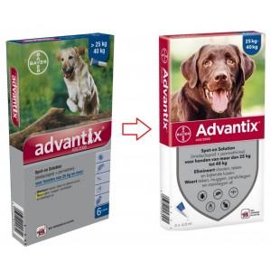 Advantix 400/2000 voor honden van 25 tot 40 kg