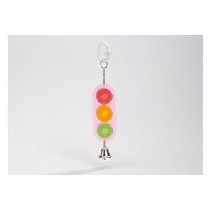 Acryl Stoplicht met Bel vogelspeeltje 0010417 Per stuk