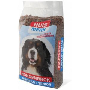 Huismerk Krokante Brok Senior hondenvoer 2 x 10 kg
