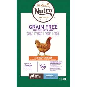 Nutro Grain Free Adult Large Kip hondenvoer 11,5 kg