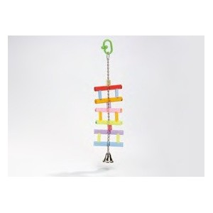 Acryl Hangladder met Bel vogelspeeltje 0010411 Per stuk