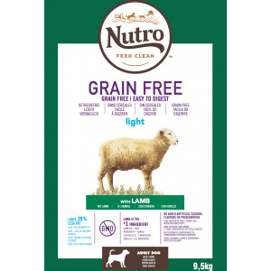 Nutro Grain Free Adult Light Lam hondenvoer 9,5 kg