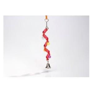 Acryl Spiraal met Bel vogelspeeltje 0010424 Per stuk