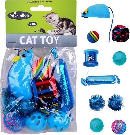 Kattenspeeltjes zak á 10 stuks